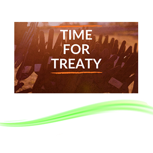 Time for treaty with treaty underlined.