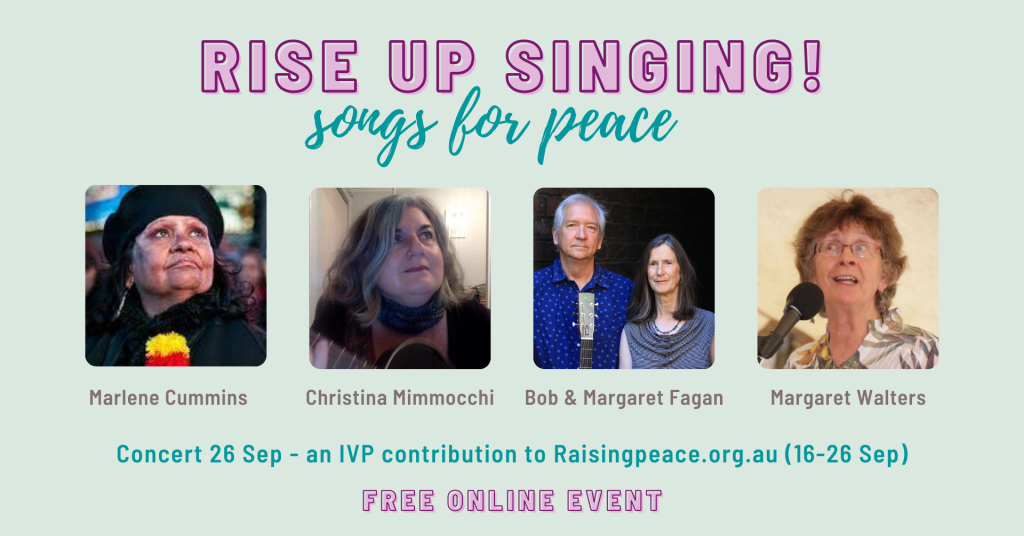 RISE UP SINGING songs for peace