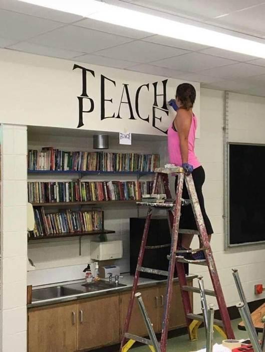 Teach = Peace